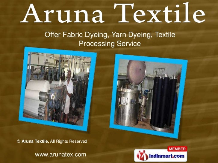 Offer Fabric Dyeing, Yarn Dyeing, Textile <br />Processing Service<br />