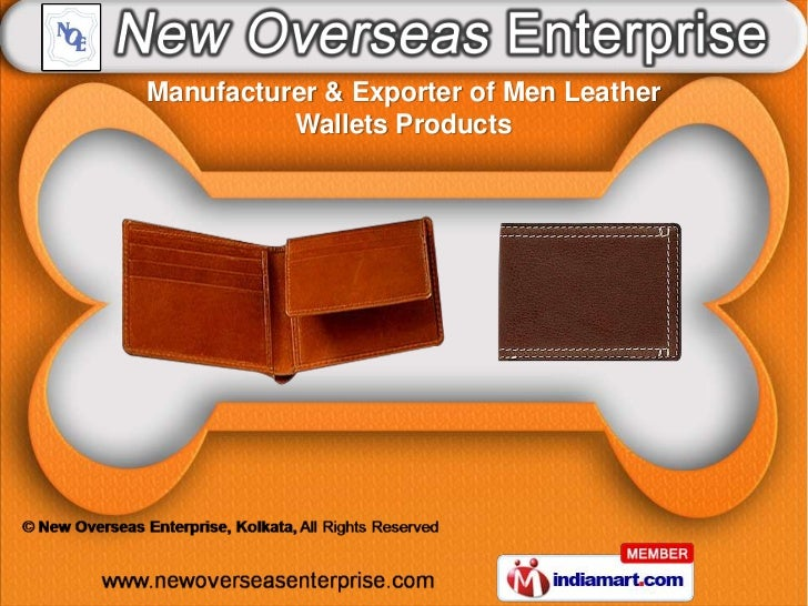 Manufacturer & Exporter of Men Leather          Wallets Products