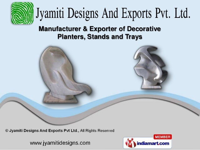 Manufacturer & Exporter of Decorative     Planters, Stands and Trays