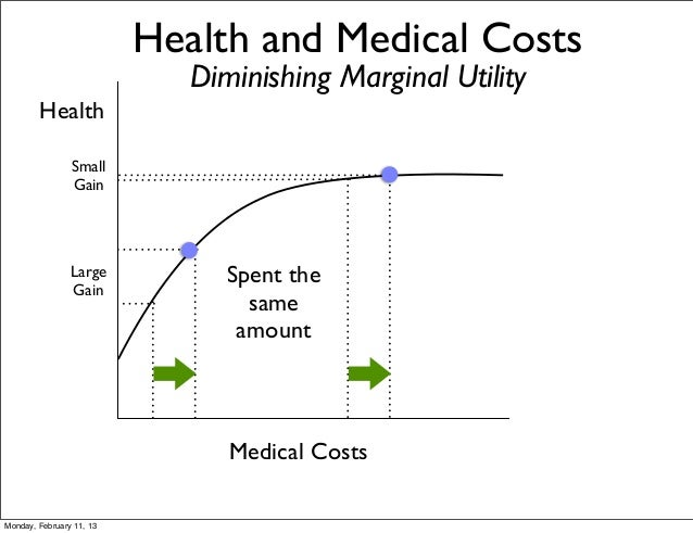 Health and Medical Costs                             Diminishing Marginal Utility        Health                Small      ...