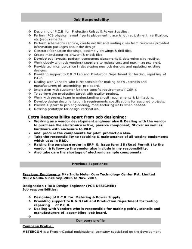 pcb design engineer resume sle electronics engineer resume type