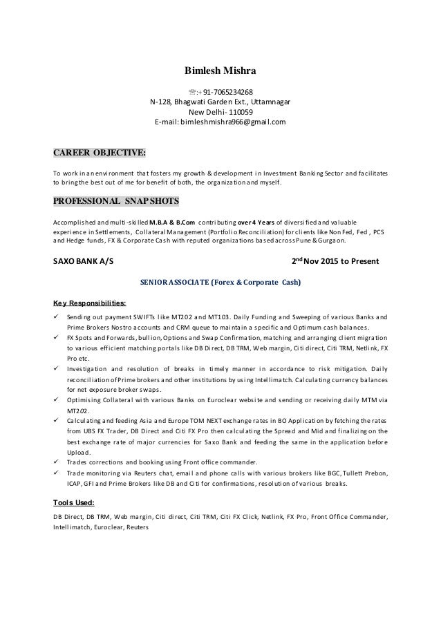 Bimlesh Resume