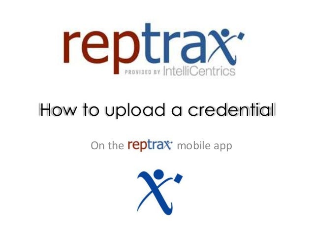How to upload a credential On the mobile app