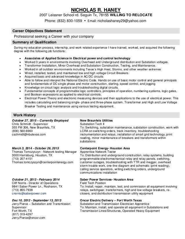 nicholas haney resume