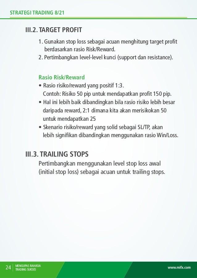 STRATEGI TRADING 8/21 III.4. ILUSTRASI STOPLOSS MENGUPAS RAHASIA TRADING SUKSES 25 Pada ilustrasi di atas, Stop Loss dilet...
