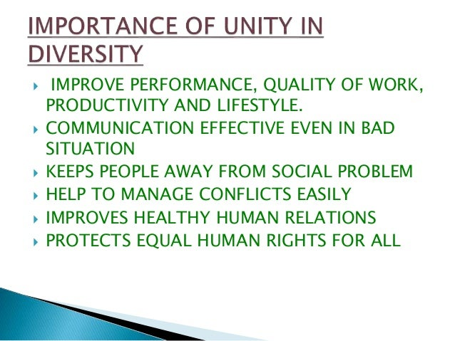 unity undermined by its diversity Start studying biology: the unity and diversity of life- chapter 1 learn vocabulary, terms, and more with flashcards, games, and other study tools.