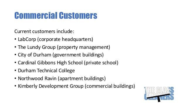 The Glass Cleaners Business Presentation potx