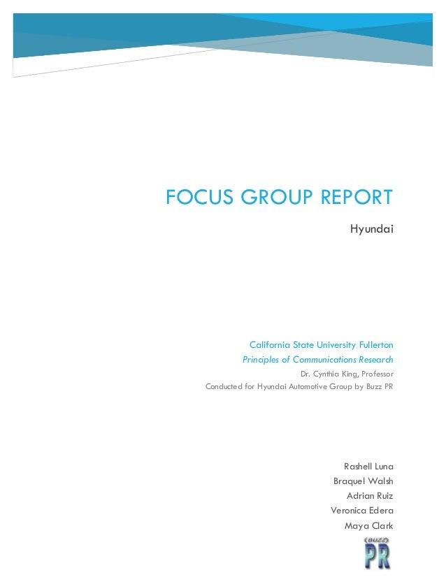 Focus Group Report Final