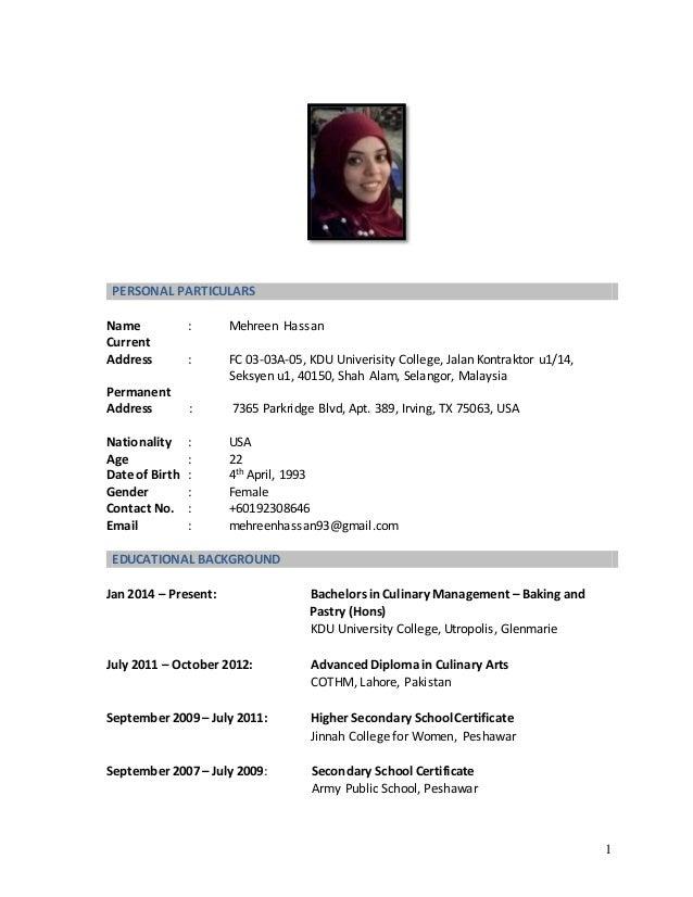 Mehreen Hassan - Resume