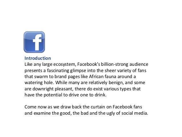 36 Faces of Facebook Fans. The Good the Bad & the Ugly Slide 2