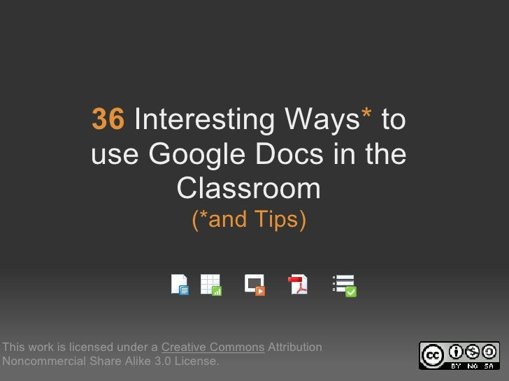 36InterestingWays*to                useGoogleDocsinthe                       Classroom          ...