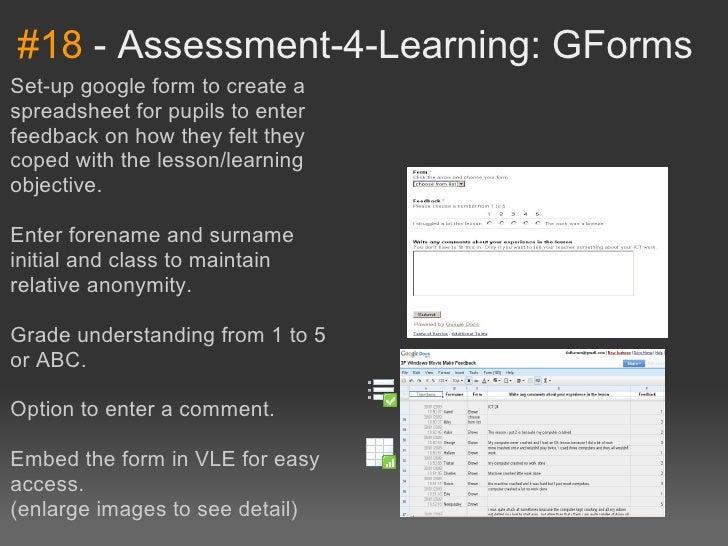 #18-Assessment-4-Learning:GFormsSet-upgoogleformtocreateaspreadsheetforpupilstoenterfeedbackonhowtheyfel...