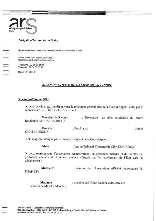 36 rapport activité cdsp 2011