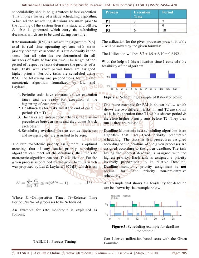 Research on Static Rate Monotonic Real Time Scheduling System