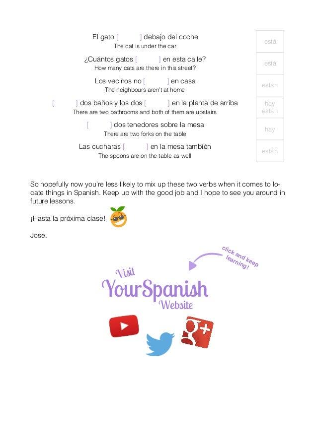 Locating in spanish (haber vs estar) Slide 3