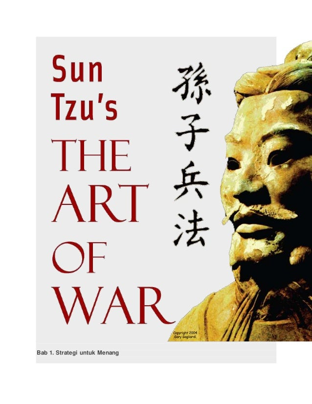 sun zi notes Sun tzu said: the art of war is of vital importance to the state 2 it is a matter of life and death, a road either to safety or to ruin hence it is a subject of.