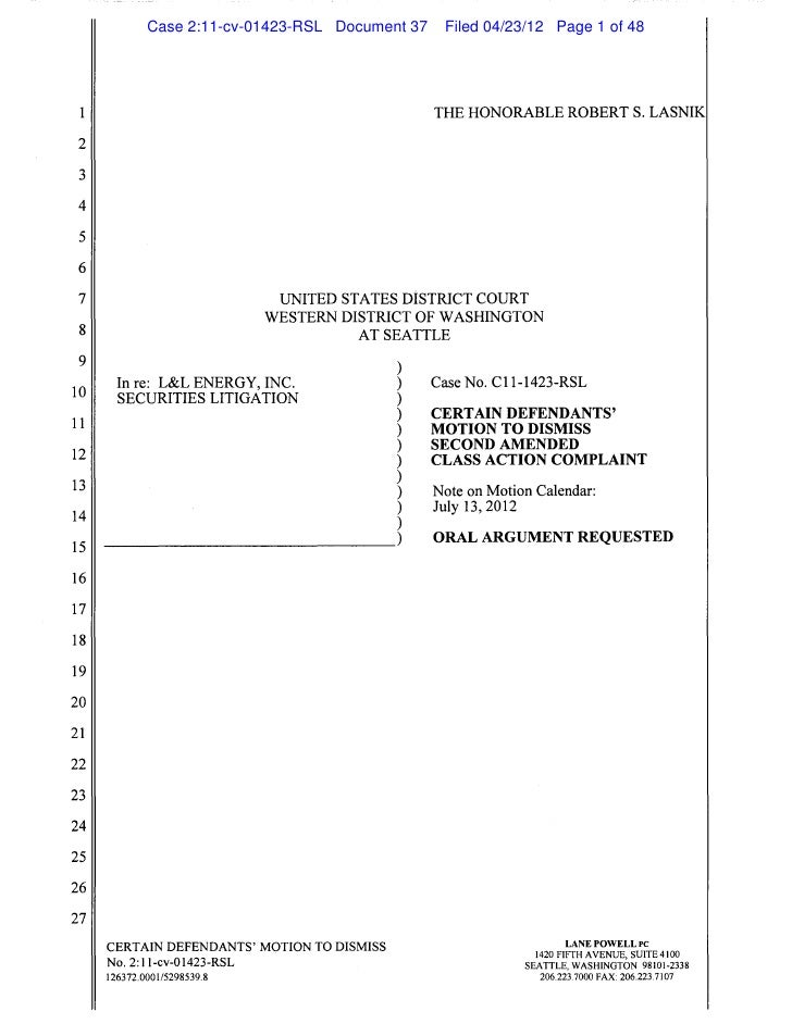 Case 2:11-cv-01423-RSL Document 37              Filed 04/23/12 Page 1 of 48                                               ...