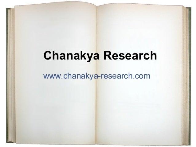 Chanakya Research www.chanakya-research.com