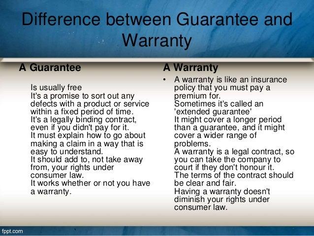 Insurance Vs Warranty