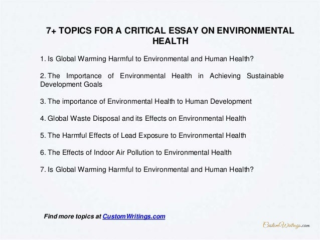 complete guide on writing a critical essay on environmental health   writing a high school essay also best essay topics for high school english essay websites