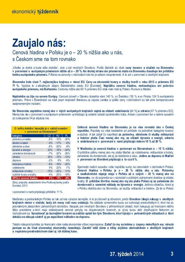 Ekonomický týždenník Poštovej banky - 37. týždeň 0ea22ecbff8