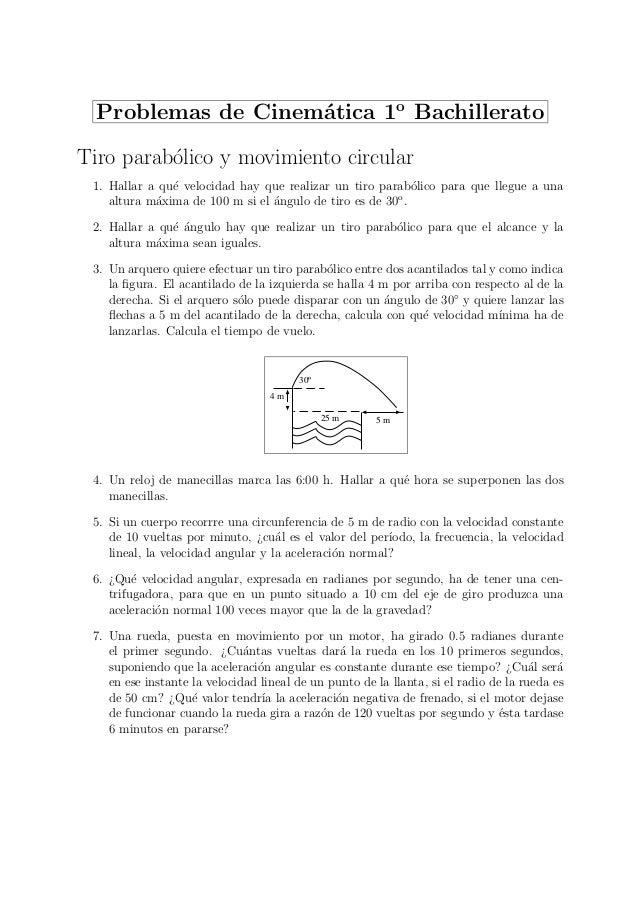Problemas Resueltos Tiro Parabolico Y Movimiento Circular