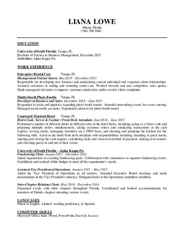 college graduate communications resume