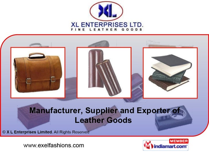 Manufacturer, Supplier and Exporter of Leather Goods