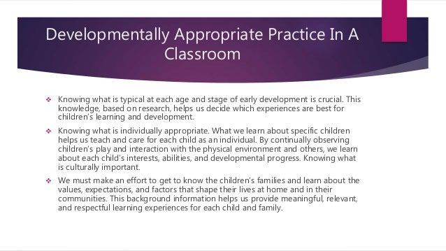 case studies in early childhood education implementing developmentally appropriate practices Developmentally appropriate curriculum: best practices in early childhood education, 5/e  case studies, and specific.