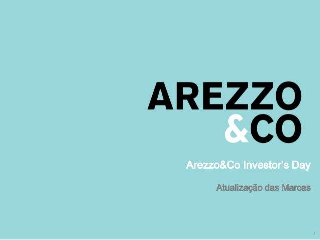 Arezzo&Co Investor's Day                Atualização das Marcas| Apresentação do Roadshow                                  ...
