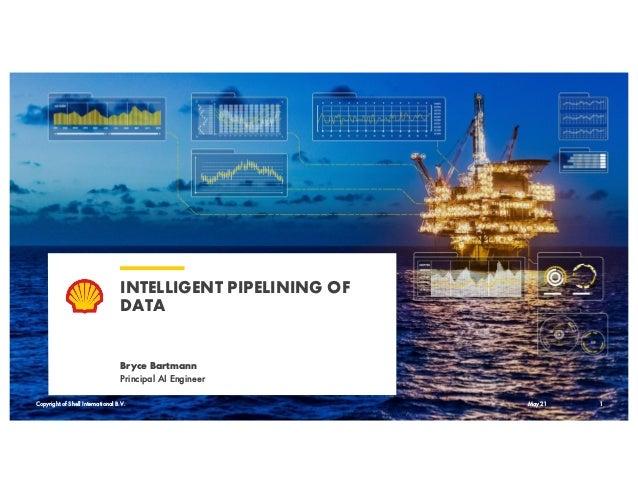 Copyright of Shell International B.V. INTELLIGENT PIPELINING OF DATA Bryce Bartmann Principal AI Engineer May 21 1 Copyrig...