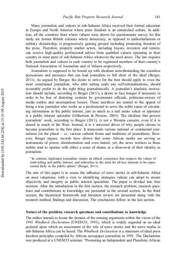 Rim research paper