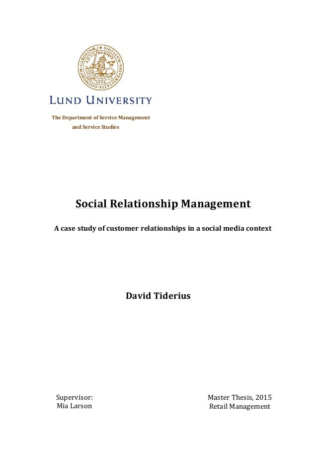 Agency leadership masters thesis