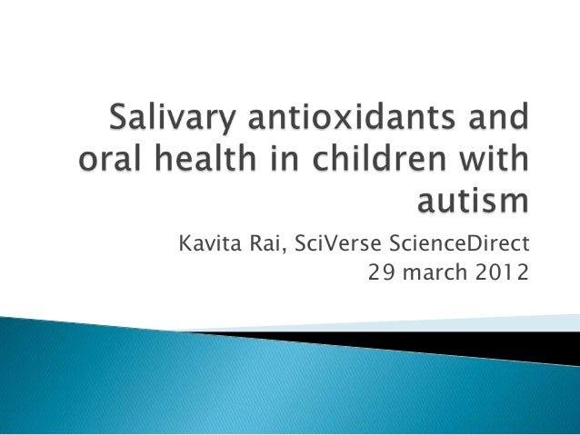 Kavita Rai, SciVerse ScienceDirect29 march 2012