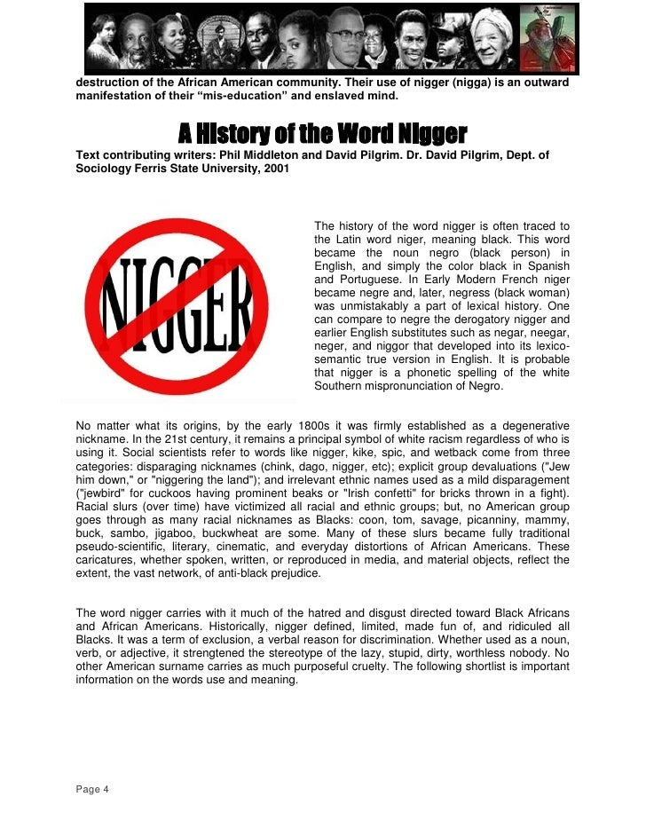 History of the word nigger