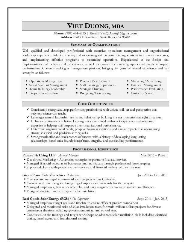 Viet Duong Resume