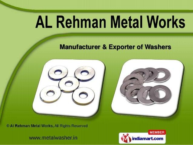 Manufacturer & Exporter of Washers