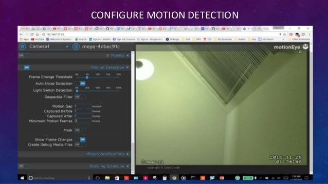 Motioneye Motion Detection