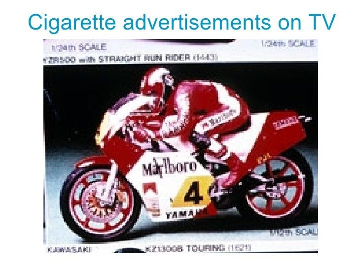 Cigarette advertisements on TV