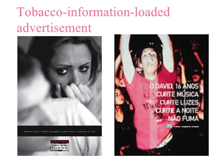 Tobacco-information-loaded advertisement