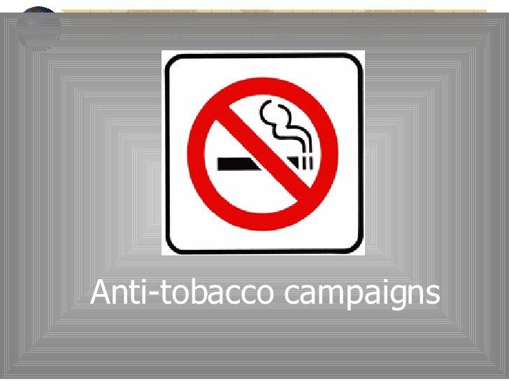 Anti-tobacco campaigns