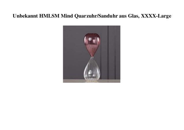 Unbekannt HMLSM Mind Quarzuhr/Sanduhr aus Glas, XXXX-Large