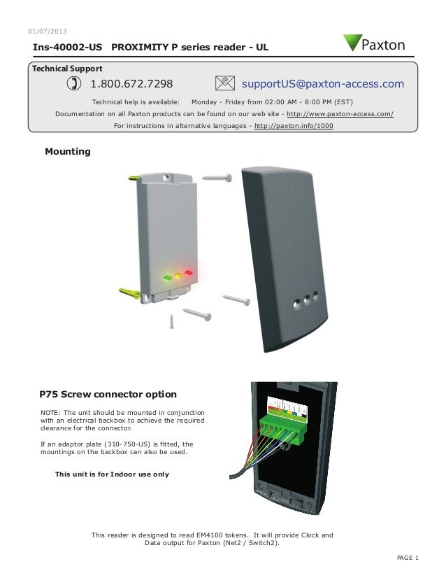 paxton access control wiring diagram