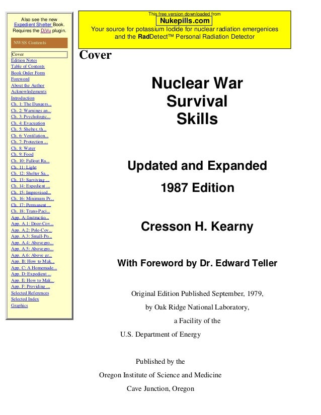 This free version downloaded from   Also see the new                          Nukepills.comExpedient Shelter Book.Requires...