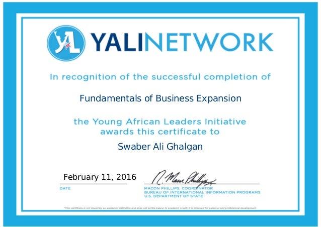 Fundamentals of Business Expansion Swaber Ali Ghalgan February 11, 2016