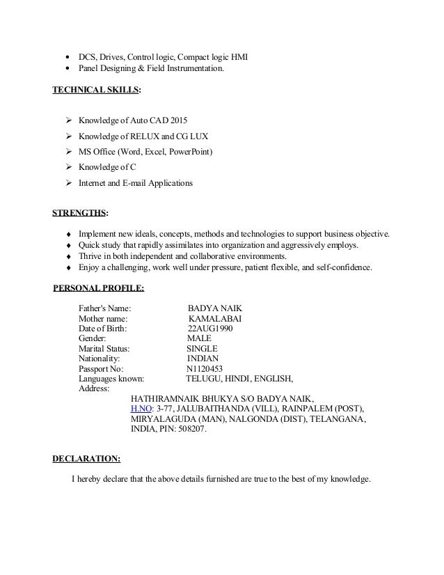 Distributed control system resume