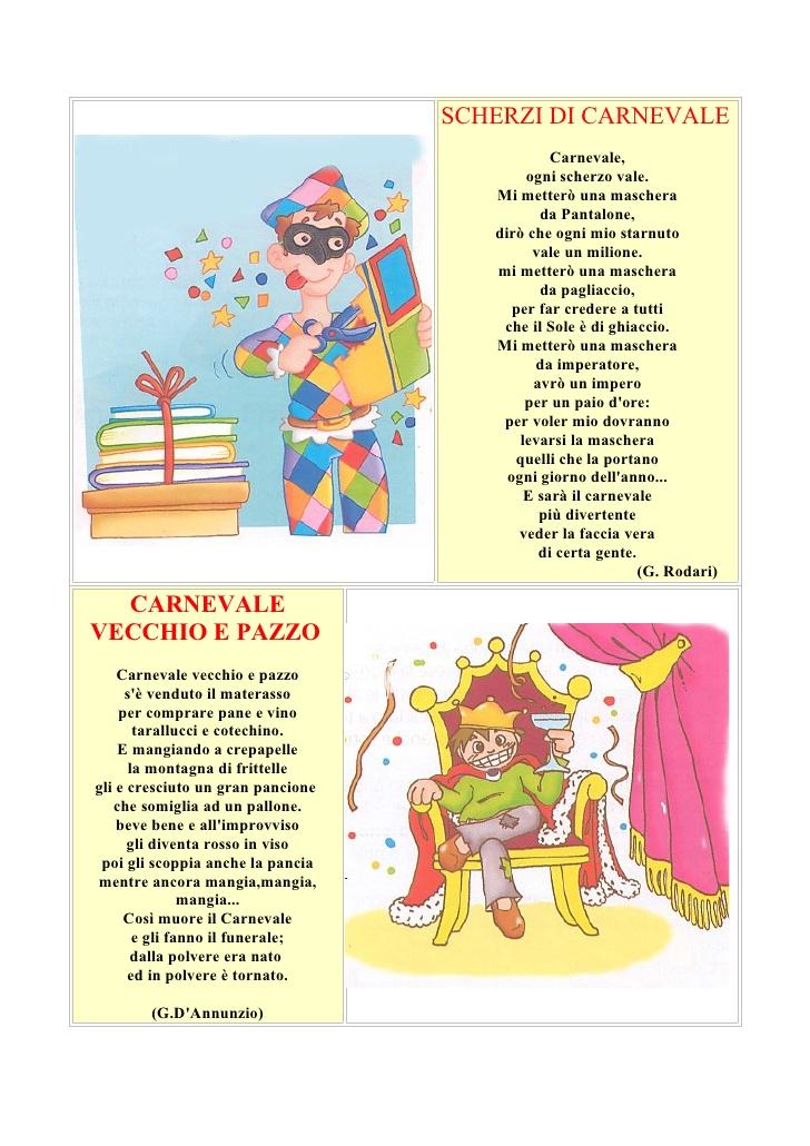 Famoso Poesie di Carnevale LE36