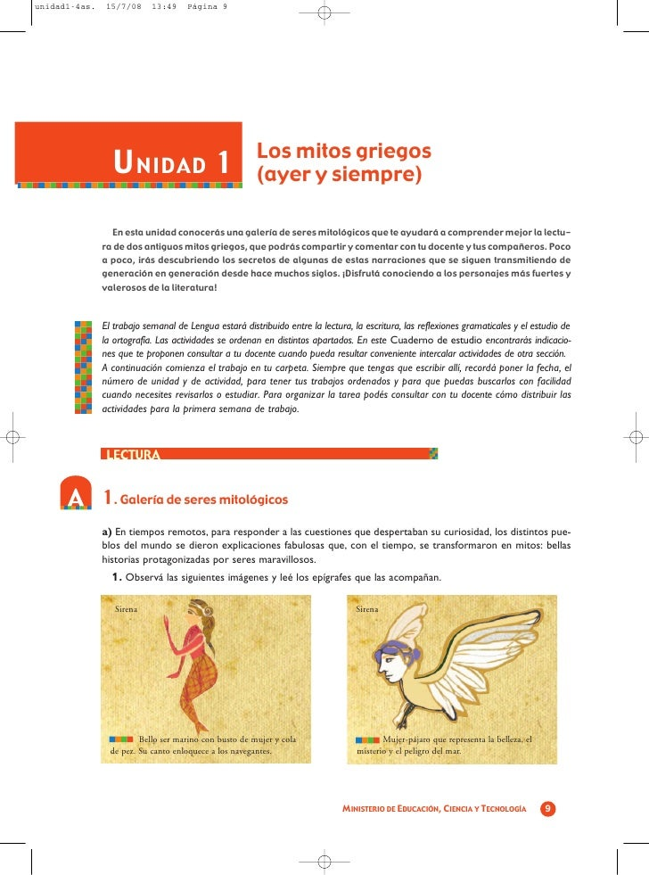 unidad1-4as.    15/7/08     13:49    Página 9                       U NIDAD 1                             Los mitos griego...