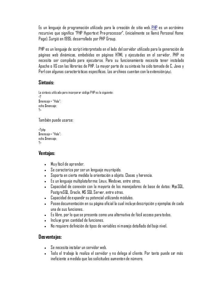 los diferentes lenguajes de programación para-la-web Slide 3