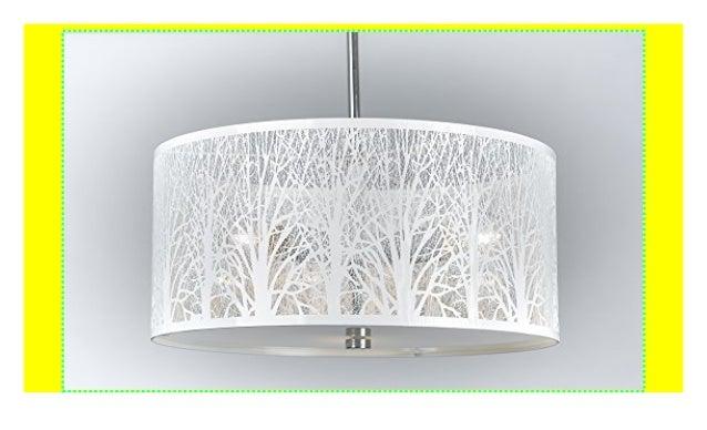 Hängelampe | Hängeleuchte | Lampe | Natur | Deckenlampe 40cm Weiß | …